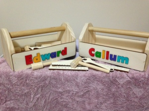 Toolboxes for grandsons