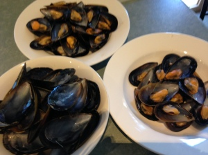 Mussels on the half-shell