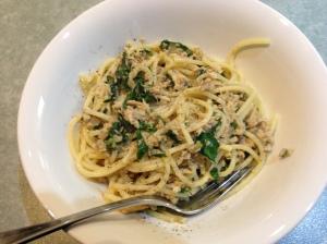 Tuna rocket pasta