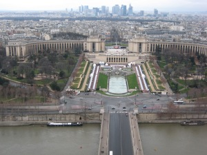 View from the Eiffel Tower across Trocadero to La Defense