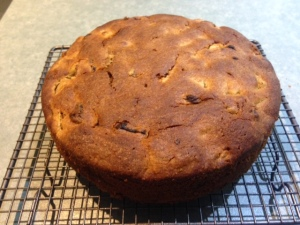 Pear apricot cake 1