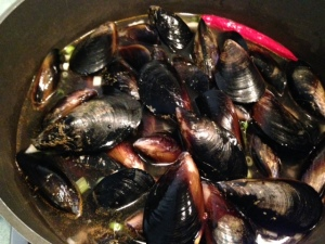 Chilli mussels 1