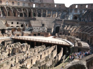 Arena restoration at the colosseum, Rome