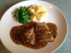 Veal escalopes tarragon
