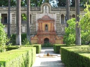 Garden of the Moorish Alcazar palace, Seville