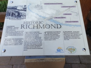 One of several information boards located around Richmond