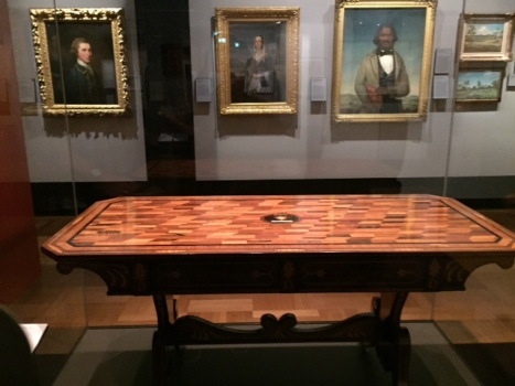 Table made from timber grown in every notable place visited by Captain James Cook